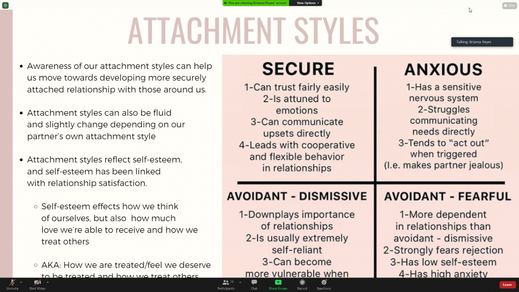 Parent-students learn about identifying attachment styles