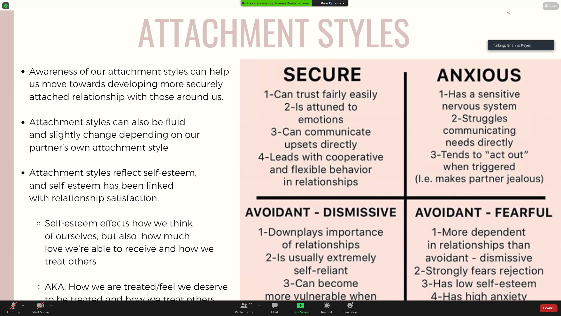 Attachment styles relationship Accessing Different